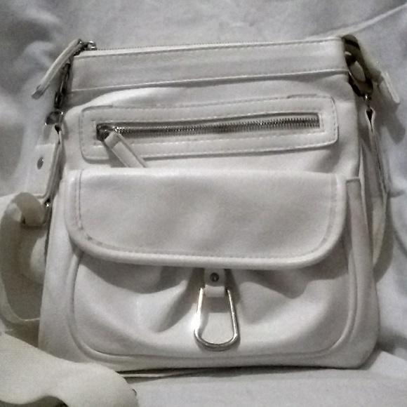 1845dbd54d Braciano Handbags - Braciano white faux leather small bag purse